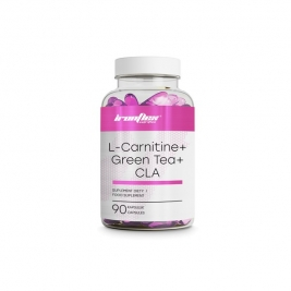 IronFlex L-Carnitine + Green Tea + Cla, 90 капсул